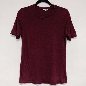 splendid | maroon marled short sleeve t-shirt XS